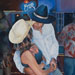 Cowboy Painting by Beth Amine