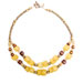 yellow beads recyled glass necklace